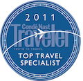 Conde Nast Traveler- Top Travel Specialist 2011